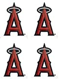 MLB 4 Los Angeles Angels Team Logo Stickers Set Individual Official Major League Baseball Helmet Emblems of Anaheim LA California