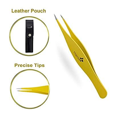 Precision Tweezers for Ingrown Hair Stainless Steel Professional Pointed Tweezer from JLS Personal Care Ltd.