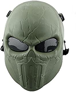 KYhao Tactical Airsoft Full Face Skull Skeleton Mask Paintball Game Cs War Game Mask