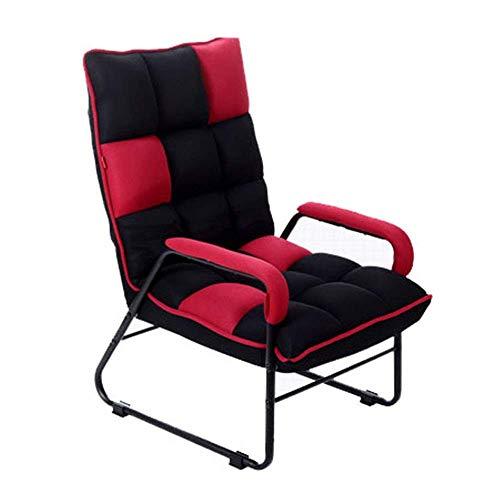 Tägliche Ausrüstung - Haare Sofa Stuhl Lounge Chair Mini Kleines Sofa Japanisches Lazy Sofa Freizeitbalkon Sessel Faltbar zum Lesen Entspannend (Farbe: Schwarz Größe: 545586cm)