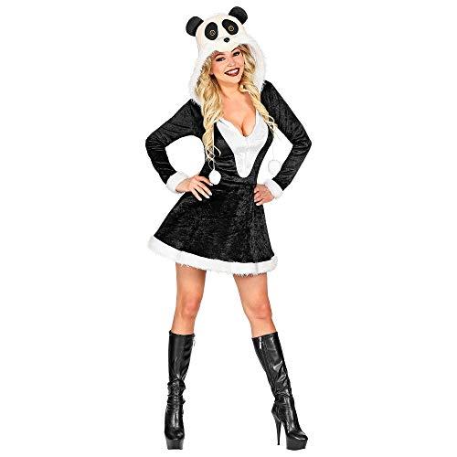 WIDMANN 02052 - Disfraz de panda para mujer, color blanco y negro, talla M , color/modelo surtido