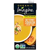 Made with organic butternut squash and a hint of cinnamon Dairy and gluten-free Certified Kosher and vegan Non-GMO Project Verified and USDA-Certified Organic Twelve 17 32 oz. carton of Imagine Organic Light Sodium Creamy Butternut Squash Soup