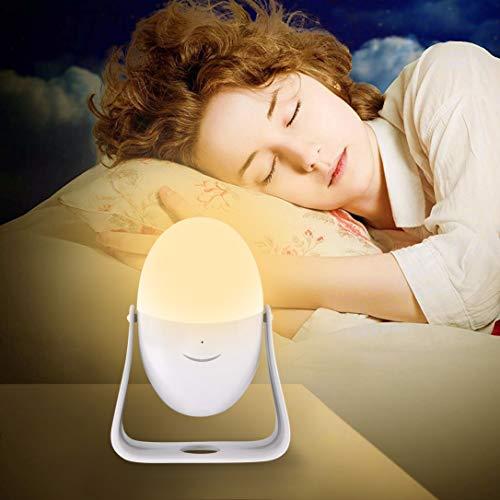 Watopi Luz nocturna en forma de huevo portátil con mango LED para niños, gancho de manivela, de pie, colorido para decoración de habitación de los niños, regalos