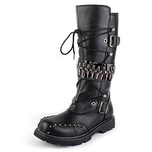 shoe Botas Punk para Hombre, Botas De Caña Alta, Botas...