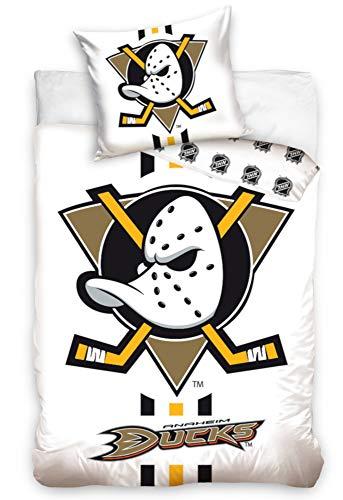 NHL Anaheim Ducks 181002 National Hockey League Fan Bettwäsche 140x200 cm + 70x90 cm