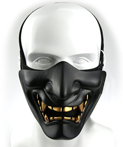 Airsoft Taktisch Maske Hälfte Gesichts maske für Softair Paintball BB Gun CS Jagd Schießen, ideal Maske für Halloween, Cosplay, Kostüm Party und Filmstütze