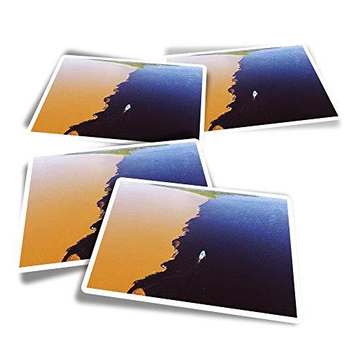Pegatinas rectangulares de vinilo (juego de 4) – Water Meeting Amazon River Brazil divertidos adhesivos para ordenadores portátiles, tabletas, equipaje, reserva de chatarra, frigoríficos #2270