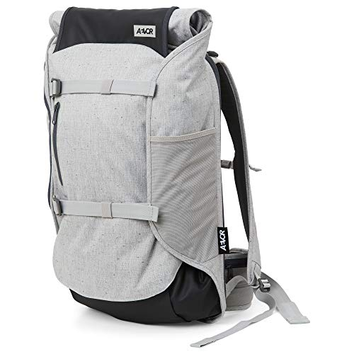 AEVOR Travel Pack - Handgepäck Rucksack, erweiterbar, ergonomisch, Rolltop System - Bichrome Steam - Hellgrau