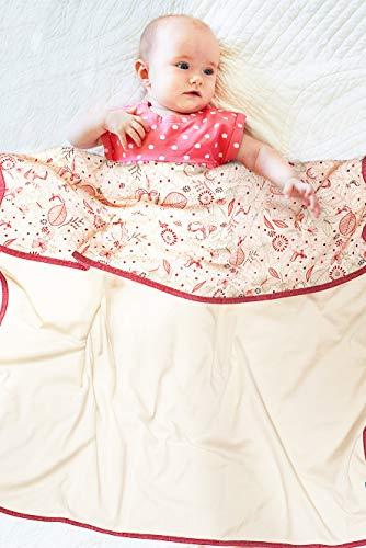 Wallaboo BBD.0719.6307 - Copertina per neonati in 100% cotone, ideale come coperta per il primo soccorso o come coperta, multicolore