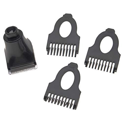 vhbw Set accesorios afeitadora compatible con Philips serie SensoTouch 1100 1150X - 4 piezas, kit peines barba de 3mm / 5mm / 7mm