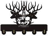 Deer Antler Wall Coat Rack Household Decor Wildllife Animal Modern Wooden Wall Hook Deer Hunting Wall Hanger Hunter Gift