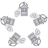 5-Pack Angroc Metal House Shaped Folding Flash Drive Keychain