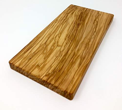 Schneidebrett aus Olivenholz handgefertigt auf Mallorca Brett aus Holz Schneidbrett Küchenbrett Fleischbrett Tranchierbrett Servierbrett verschiedene Größen (28x14x2,2 cm)