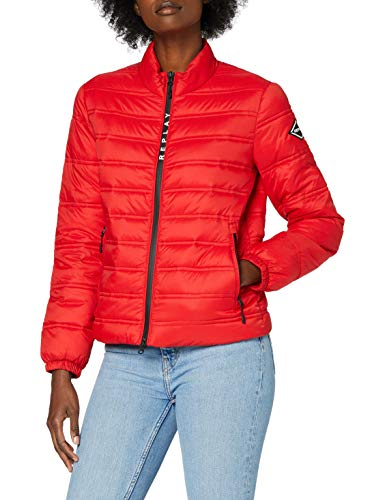 REPLAY W7496a.000.83806 Chaqueta, 656 Ruby Red, S para Mujer