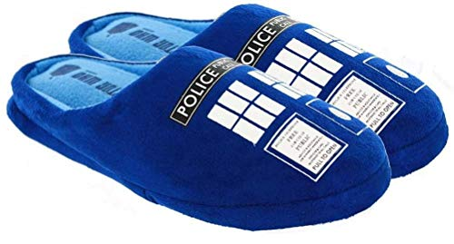 Doctor Who Women's Tardis Slippers Small Navy Blue