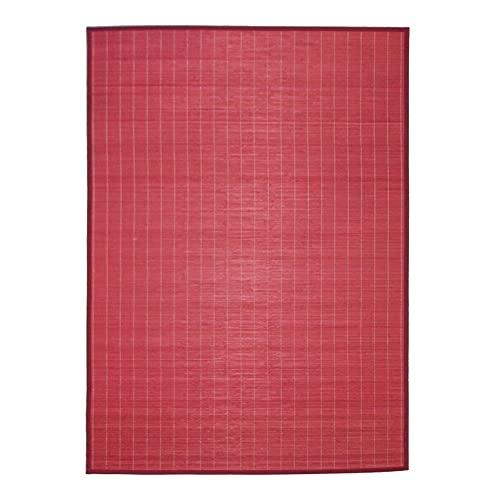 Thedecofactory Alfombra 133 x 180 Bali, bambú, Rojo, 180 x 133 x 1,5 cm