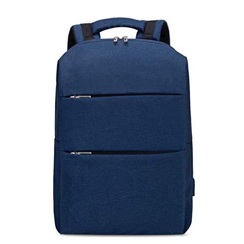 WEIXINNUO Multifunktionaler Rucksack mit USB Lade-Schnittstelle, große Kapazität Computer-Rucksack für 15,6 Zoll Laptop, sowohl Männer als auch Frauen können, Blau - blau - Größe: One Size