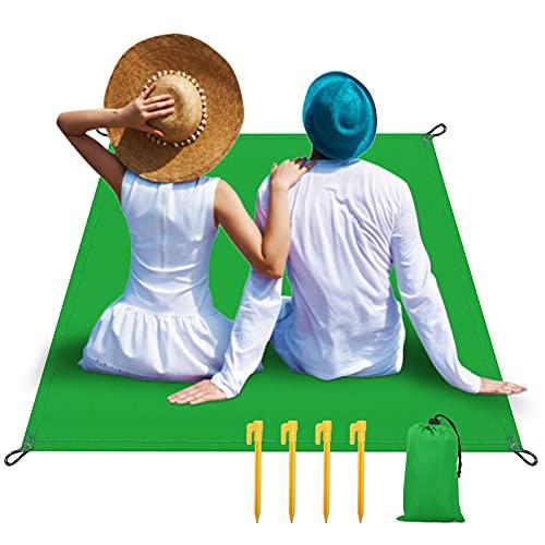 Manta Picnic Impermeable Manta de Picnic 140 X 200cm Manta de Playa con 4 Clavos Fijos para la Playa Picnic Tigerkinwit Alfombras de Playa Acampa y Otra Actividad al Aire Libre