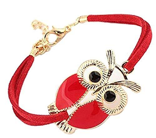 Rood - armband met uiluil