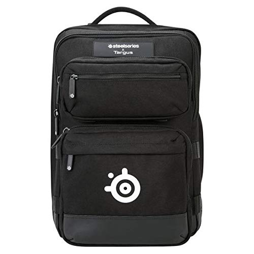Targus Steelseries Gaming Backpack for 17-Inch Laptop, Gear Storage for Controllers, Headsets, Mice, Keyboard & Accessories, Black (TSB941BT)