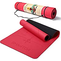 Smartor 6mm Thick Non-Slip Exercise Yoga Mat with Carrying Strap