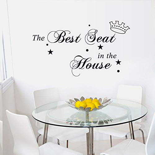 The Best Seat in The House Decal Wall Sticker Quote Art Vinyl Decor Removable PVC Decoration for Home Living Room