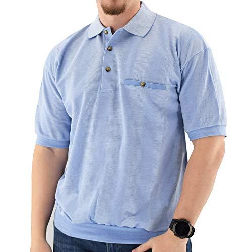 Classics by Palmland Short Sleeve Banded Bottom Shirt 6070-245 Light Blue - Big and Tall (3X, Lt Blue)
