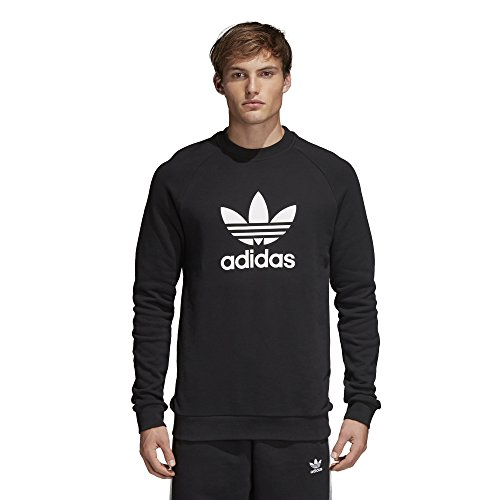adidas Originals Men's Trefoil Warm-Up Crew Sweatshirt, black, X-Large