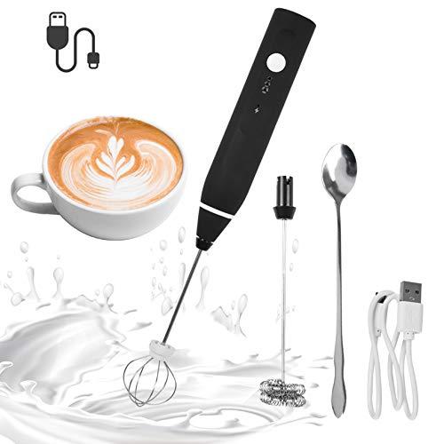 BUYGOO Espumador de Leche Eléctrico, USB Recargable Batidor de leche de Acero...