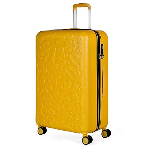 Lois - Maleta de Viaje Grande 4 Ruedas Trolley 75 cm Rígida de ABS. Dura Práctica Cómoda Ligera y Bonita Marca de Confianza y Estilo. Candado TSA. 171170, Color Mostaza