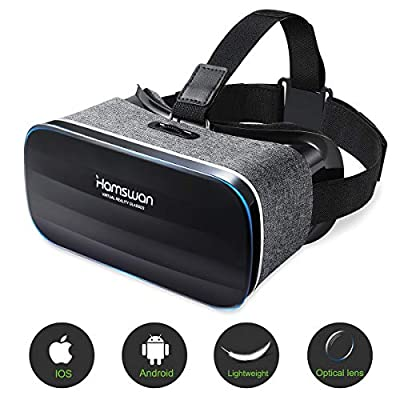 HAMSWAN VR Headset, Virtual Reality Headset, 3D Glasses, VR Goggles-for 3D VR Movies Video Games with 100 Degree FOV for iPhone X 8 7 6 plus, Samsung S6 S7 S8/Plus/Edge Note 8 [2020 Edition]