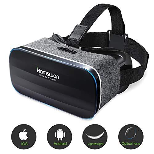 REDSTORM 3D VR Gafas de Realidad Virtual, VR Glasses Visión Panorámica 360 Grado Película 3D Juego Immersivo para Móviles 4.7-6 Pulgada (Gafas VR con Auriculares)