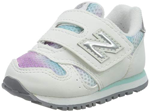 New Balance 373, Zapatillas Niños, Blanco (White/Purple Gw), 21 EU