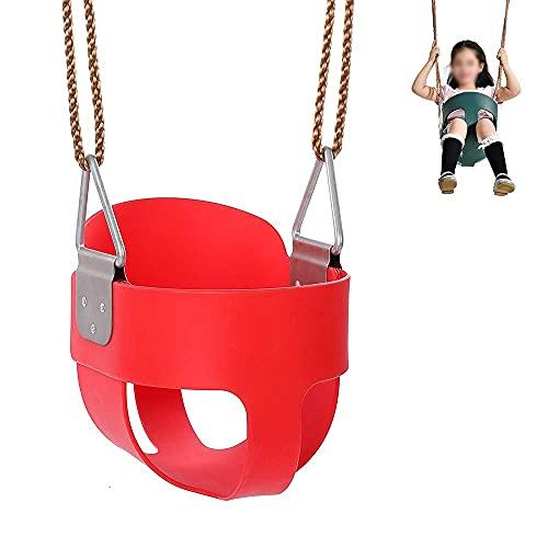 FYRMMD Asiento de Columpio para niños portátil con Columpio, Asiento de Columpio de Medio Cubo con Respaldo Alto para niños pequeños con Juegos de Columpios