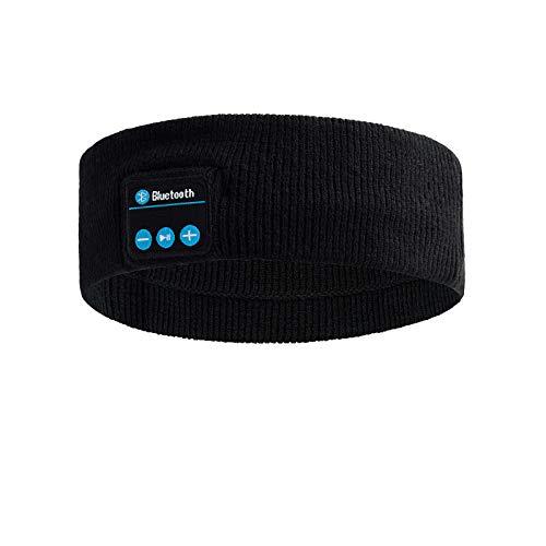 YMHPRIDE - Diadema deportiva con Bluetooth, V5.0, Auriculares deportivos, Diadema, Altavoces estéreo desmontables HD ultrafinos, Diadema Bluetooth para correr, Entrenamientos, Viajes, Insomnio