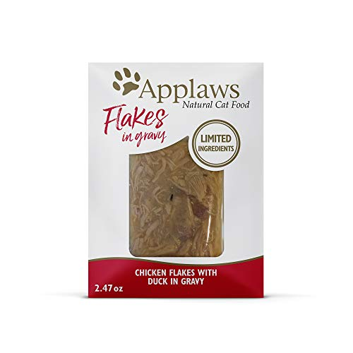 Applaws Chicken Flakes with Duck in Gravy Pouches