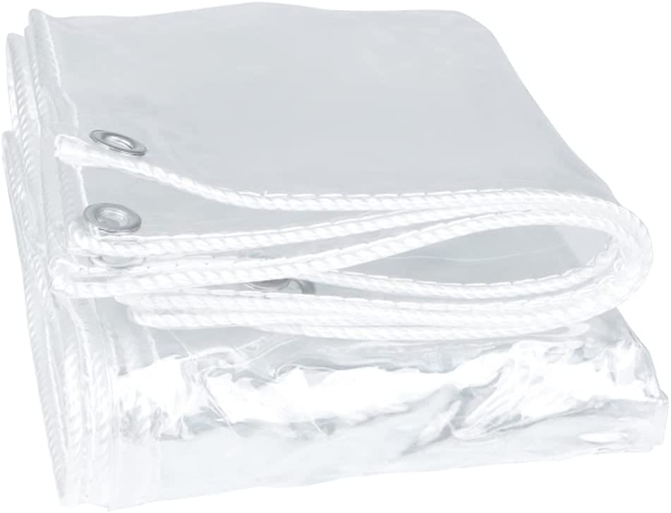 HYHMJ-Tarpaulin Plant Cover Transparen Tarp PVC with - P Eyelets Free shipping trend rank anywhere in the nation