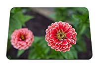 22cmx18cm マウスパッド (ダリアの花びらがピンクのクローズアップをぼかし) パターンカスタムの マウスパッド