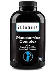 Glucosamine complex met chondroitine, MSM, Boswellia en Quercetine, 365 capsules   GMO-vrij, vrij van additieven, glutenvrij, GMP   van Zenement