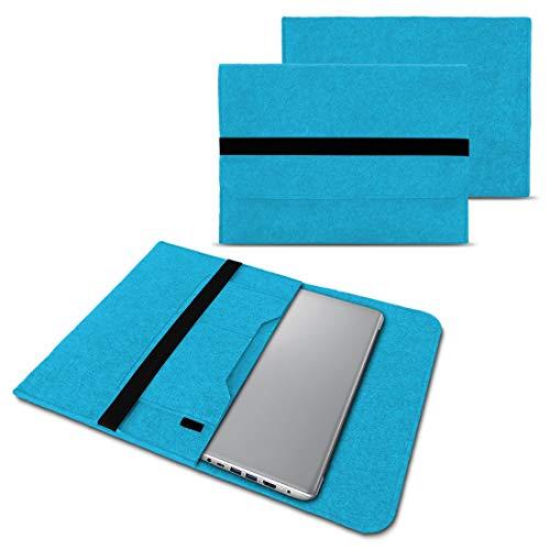 NAUC Schutzhülle kompatibel für Lenovo Yoga C940 S940 14 Zoll Notebook Sleeve Laptop Tasche hochwertiger Filz Laptoptasche, Farben:Türkis