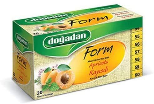 Dogadan Premium Form Kräutertee mit Aprikosen, 3er Pack (3 x 1 Stück)