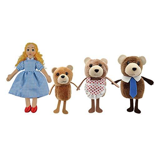The Puppet Company PC006704 Ricitos de Oro y los Tres Osos Juego de Marionetas de Dedo y Libro