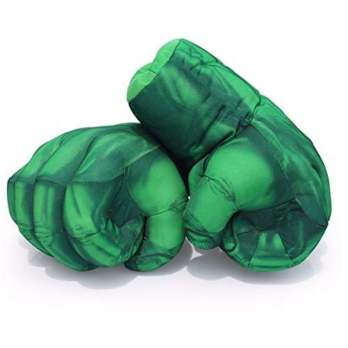 HINTER Hinterter Hulk-Handschuhe, Hulk-Boxhandschuhe, Hulk-Handschuhe, für Kinder, Geburtstag, Weihnachten, lustig, 28 cm (1 Paar)