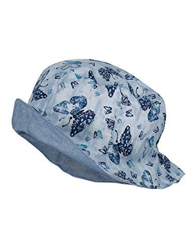 maximo Baby-Mädchen Hut Sonnenhut, Blau (morningsky-Navy-Schmetterling 42), (Herstellergröße: 49)