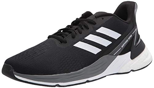 adidas mens Response Super Running Shoe, Black/White/Grey, 10 US