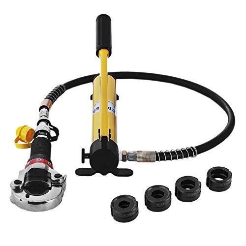 Guellin 15-28 mm Alicate para Tuberia Alicate para Tubos Compuestos PEX PE-X PB Tenaza para Tuberia con Calibradores y Resortes de Flexión