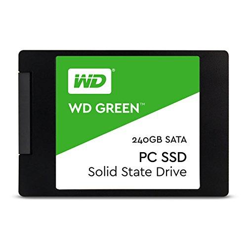 WD Green SSD 240 GB Festplatte SATA 6Gb/s, bis zu 540 MB/S Lese- und 465 MB/s Schreibgeschwindigkeit, 2,5 Zoll, 7,00 mm WDS240G1G0A
