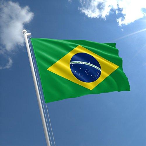 My Planet - Grand drapeau brésilien décoratif - Pour supporter brésilien - Qualité supérieure - 150 x 90 cm