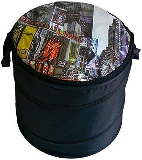 Manne à linge avec fermeture éclair new york time square sac à linge sac à linge trieur-noir - 1 tonne aimants nostalgic a...