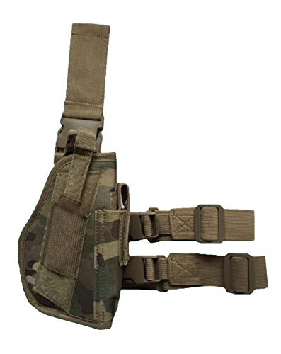 AR TACTICAL GMBH Pistolenbeinholster Tiefziehholster Beinholster -Gürtelbefestigung (Multi Tarn)
